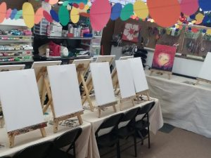 private party painting setup